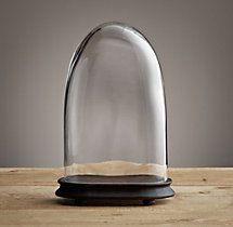 Petite Glass Cloches - Small Oval