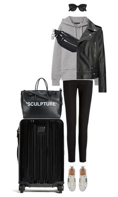 """Untitled #244"" by smileyface2299 ❤ liked on Polyvore featuring Joseph, Acne Studios, Alexander Wang, Gucci, Tumi, Off-White, CÉLINE, Hoodies and airportstyle"