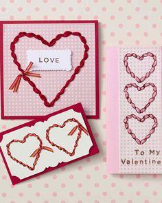 Ribbon-Punched Valentine | Martha Stewart