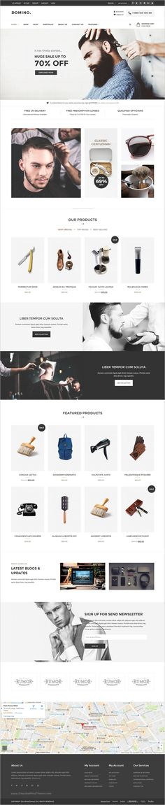 Domino is a wonderful 6in1 responsive #WordPress theme for #webdev multipurpose #barbershop eCommerce website download now➩ https://themeforest.net/item/domino-fashion-responsive-wordpress-theme/17908571?ref=Datasata