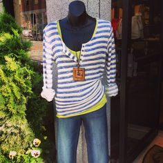 Striped top and denim #jmodefashions