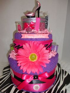 Items similar to Diva Birthday Towel cake on Etsy Gift Suggestions, Gift Ideas, Birthday Cards, Birthday Gifts, Towel Cakes, Cakes For Women, Food Cakes, Jar Gifts, Basket Ideas