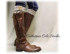 Boot cuff, Boot toppers, boot cuffs, boot socks cuff, boot liners, leg warmers, alpine, nordic, tweed, ASPEN oatmeal Boot Cuffs | BC1