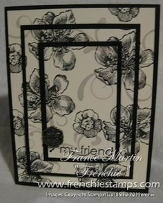 Stamp & Scrap with Frenchie: Free Triple Time Stamping card tutorial