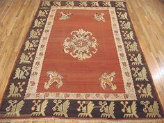 "Kilim & Flatweave 10' 5"" x 7' 3"" Vintage Kilim at Persian Gallery New York - Antique Decorative Carpets & Period Tapestries"