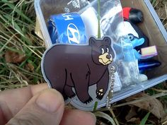 (TB4GC1D) Bernadette the Black Bear Travel Tag - Bernadette the Black Bear Travel Tag