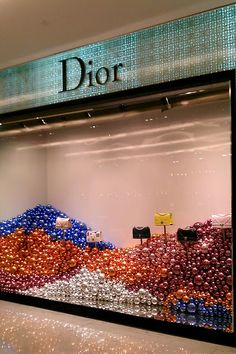 Dior Christmas Windows, Emporium Bangkok Visual Merchandiser, styling and still life designs Christmas Windows, Christmas Window Display Retail, Christmas Store Displays, Christmas Mood, Plaid Christmas, Xmas, Window Display Design, Store Window Displays, Retail Displays