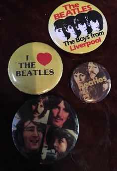 Lot Of 4 Beatles Pins ❤️ Boys From Liverpool - Great Stocking Stuffers Gift Brit  | eBay