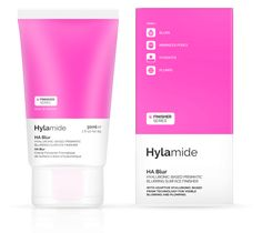 Hylamide Finisher HA Blur - Instead of relying on older silica technologies, HA Blur uses an unusual new form of Hyaluronic Acid powder base for its blurring approach. Hyaluronic Acid has never been used for this purpose before and renders HA Blur compatible with all makeup and all skin types.