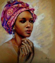 Editor's #Style Picks - Gorgeous #African artworks (Oil painting).  #ZenMagazine | http://zenmagazineafrica.com/  Artist: Claudy Khan