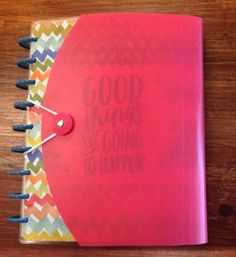 FUSCIA Wrap Around Happy Planner Cover with free by LunasGrotto