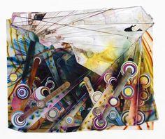 "Rosemarie Fiore, 2011, Lit firework residue on paper, 48""x59"""