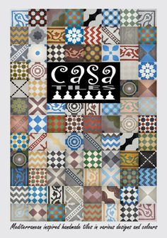 Moroccan tiles for a bathroom floor from CASA TILES Fish House, Moroccan Tiles, Pattern Mixing, Bathroom Flooring, Oriental, New Homes, Quilts, Bath Ideas, Blanket