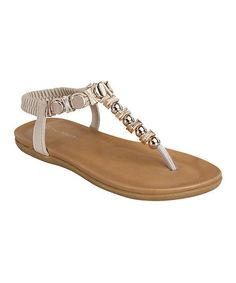53ff1852ec7c This Machi Footwear Nude Studded Adela Sandal by Machi Footwear is ...