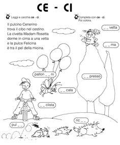 ca co cu ci ce Italian Grammar, Italian Vocabulary, Italian Language, Laura Lee, School Template, Italian Lessons, Montessori Math, Visual Aids, Learning Italian