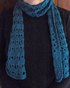 - Crocheted scarf - broomstick stitch