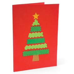 Christmas craft: Trim a Tree | Christmas Card Crafts for Kids | FamilyFun