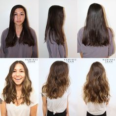 Hair Color by Johnny Ramirez : subtle highlights on brunette hair