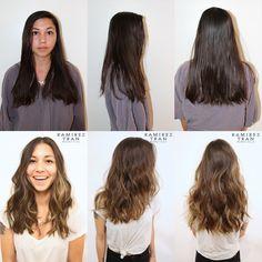 Hair Color by Johnny Ramirez : subtle highlights on brunette hair