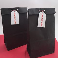 Spy Party Favor Bags: Secret Agent Favor Bags, Spy Party Bags, Spy Party Treat Bags