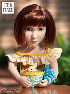 Happy Easter from Lee & Pearl! Make beautiful Easter baskets for your 18 inch / American Girl dolls — or similar dolls, like our 16 inch A Girl for All Time Clementine — using inexpensive ribbon, card stock and Lee & Pearl's FREE tutorial and printable package. Pearl Crafts, Printable Crafts, Free Printable, Printables, Easter Baskets, Ballet Performances, Girl Dolls, Popular Crafts, American Girl