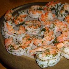 Dilled Shrimp (Rejer) Recipe - pretty simple holiday buffet appetizer #holidayentertaining #huffposttaste
