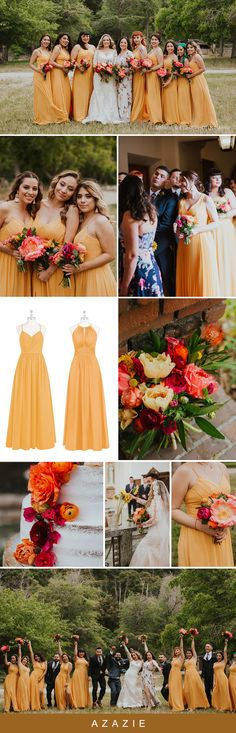 Tangerine bridesmaids dresses are always perfect year round. Beautiful mix and matched tangerine hues from Azazie. Wedding Bride, Dream Wedding, Wedding Dreams, Spring Wedding, Wedding Bells, Wedding Decor, Wedding Stuff, Tangerine Bridesmaid Dresses, Azazie Bridesmaid Dresses