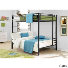 @Overstock - DHP Full-over-Full Metal Bunk Bed - Complete your kid's room with DHP's Full-Over-Full Metal Bunk Bed. With square posts and simple design, this bunk bed will complement any room d�cor. Offered in black or silver.  http://www.overstock.com/Home-Garden/DHP-Full-over-Full-Metal-Bunk-Bed/9148066/product.html?CID=214117 $240.99
