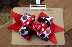 Arkansas Razorback Hair Bow