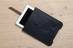 iPad Case black leather iPad Cover iPad 2/3 Sleeve by EMILISTUDIO, $89.00