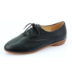 iloveflat Women's Classic Lace Up Dress Low Flat Basic Oxford Shoes 7 B(M) Black ** Details can be found by clicking on the image.