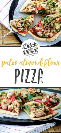 A delicious thin crust that holds all of the toppings! This crispy paleo pizza d.A delicious thin crust that holds all of the toppings! This crispy paleo pizza dough is a must-make recipe for anyone looking to Pizza Recipe Keto, Paleo Pizza Crust, Almond Flour Pizza Crust, Thin Crust Pizza, Pizza Recipes, Paleo Recipes, Paleo Bread, Flatbread Pizza, Pizza Pizza