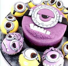 Despicable me 2 cake and cupcakes