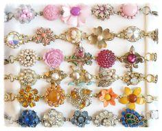 Rainbow of jewelry box bracelets by Pink Dogwoods  www.pinkdogwoods.com