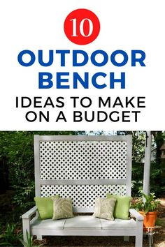 Instantly create a cozy and fun outdoor space with these 10 DIY bench projects. Perfect for your front porch, backyard, patio or deck, these easy seating diy ideas make being outside fun and enjoyable. #diy #outdoordiy #seating Diy Projects On A Budget, Diy Pallet Projects, Diy On A Budget, Outdoor Paint, Outdoor Fun, Outdoor Spaces, Old Cribs, Mother Daughter Projects, Diy Bench
