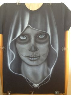 Custom Airbrushed TShirt Day of the Dead Dia de los by zioMik, $33.00