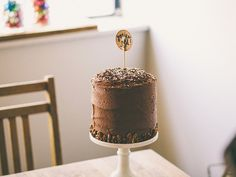 Coconut Pecan Filled Chocolate Birthday Cake Recipe
