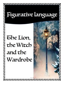 Figurative Language posters using quotes from 'The Lion the Witch and the Wardrobe'. Download for free. Saved you a Spot - Primary education blog.