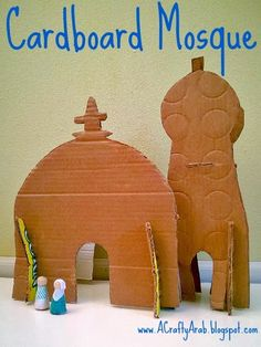 A Crafty Arab: Cardboard Mosque Tutorial. We made it. Our whole month of 30 days of Ramadan crafts are over. We really enjoyed coming up with all the new Arabic and Islamic crafts! I knew I wanted to create something special for today, but honestly had no ideas by the afternoon. I decided a trip to Costco to buy all the food …