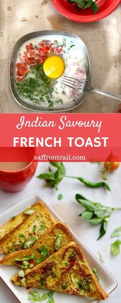 If you haven't had a savoury French toast Indian style (Masala French toast), all spiced up, then it's time to remedy that pronto. Pantry ingredients, 5 minutes, easy enough for a newbie cook and breakfast is ready.