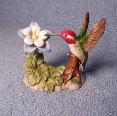 Bronson Porcelain Costa's Hummingbird with Columbine