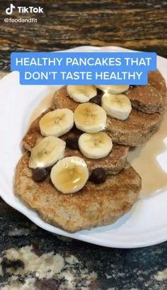 credit to @foodandfit on tik tok Fun Baking Recipes, Good Healthy Recipes, Healthy Sweets, Healthy Breakfast Recipes, Dessert Recipes, Cooking Recipes, Healthy Food, Healthy Sweet Snacks, Snacks Recipes