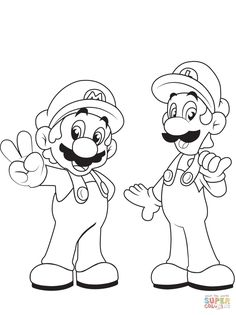 Coloring Pages Mario and Luigi . 30 Coloring Pages Mario and Luigi . Mario and Luigi Coloring Pages Bear Coloring Pages, Cartoon Coloring Pages, Disney Coloring Pages, Coloring Pages To Print, Free Printable Coloring Pages, Coloring Pages For Kids, Coloring Books, Coloring Sheets, Free Printables