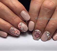 From Earrings To Toe Rings, Our Jewelry Advice Is Tops by Johan Adam Horn 🙈 Fiddle Leaf Fig Ficus 28 Festive Ways to Paint Your Nails These Holidays Funny Marine Style Nail Art Design Ideas Cute Nails, Pretty Nails, Seashell Nails, Star Nail Designs, Sea Nails, Nautical Nails, Chevron Nails, Nailart, Uñas Fashion