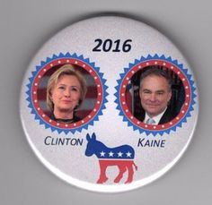 Hillary Clinton: Hillary Clinton Pin 2016 Presidential Political Pin Clinton Kaine Pin 2016 -> BUY IT NOW ONLY: $2.22 on eBay!