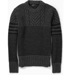 Belstaff - Burstead Patterned Wool Sweater   MR PORTER