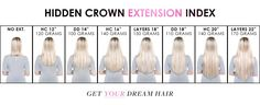 Halo Styles - Hidden Crown Hair Extensions