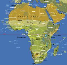 map of africa showing sahara desert  maps  Pinterest  Africa