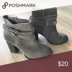 Nine West Suede Booties Worn once, perfect condition Nine West Shoes Ankle Boots & Booties