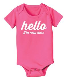 Love this KidTeeZ Raspberry 'I'm New Here' Bodysuit - Infant by KidTeeZ on #zulily! #zulilyfinds